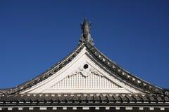крыша японца замока Стоковая Фотография