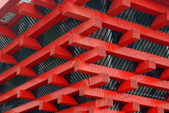 крыша 2010 павильона экспо фарфора угловойая shanghai Стоковые Фотографии RF