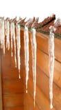 крыша icicles Стоковые Фото