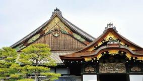 крыша nijo замока деревянная стоковое изображение