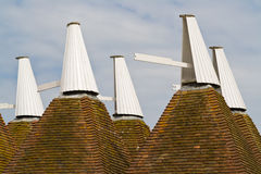 крыша oast дома kentish Стоковое фото RF