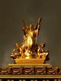 крыша paris оперы памятника стоковая фотография rf