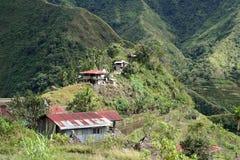 крыша philippines batad заржавела олово Стоковая Фотография