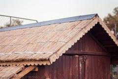Крыша Reed курятники Стоковые Изображения