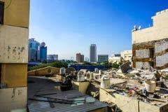 Крыша Rigga Al Дубай грязная стоковое фото rf