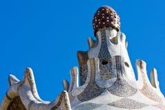 крыша s parc guell gaudi Стоковые Фотографии RF