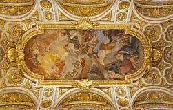 крыша san luigi rome церков стоковая фотография