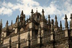 крыша sevilla детали собора к Стоковая Фотография RF