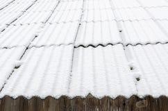 Крыша Snowy Стоковое Фото