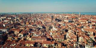 Крыши Венеции от колокольни собора Флоренса Стоковое Изображение