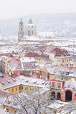 Крыши дворца Ledebursky и церков St. Nicolas Стоковое Изображение RF