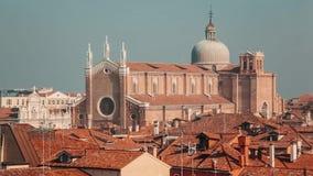 Крыши во взгляде Венеции сверху видеоматериал