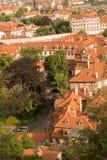 Крыши в Праге Стоковое Изображение RF
