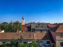 Крыши в украинском городе Mukachevo Стоковое Фото