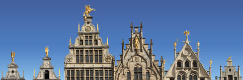 Крыши в Antwerp, Бельгии. Стоковое Изображение RF