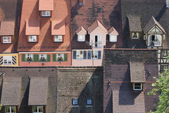 Крыши в Meersburg Германии Стоковое Изображение