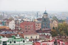 Крыши города Выборга ландшафт урбанский Стоковая Фотография