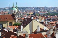 Крыши города Праги Стоковые Изображения