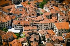 Крыши города Kotor Стоковые Фотографии RF