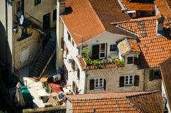 Крыши города Kotor Стоковое Изображение