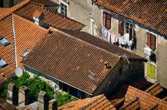 Крыши города Kotor Стоковые Изображения RF