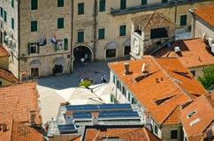 Крыши города Kotor Стоковая Фотография RF