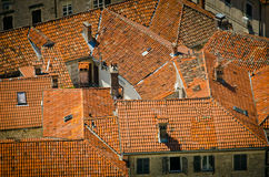 Крыши города Kotor Стоковое фото RF