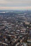 Крыши Дюссельдорфа Германии стоковые изображения