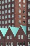крыши зеленых домов Стоковое Изображение
