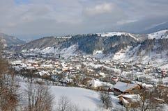 Крыши зимы Стоковая Фотография