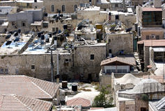 крыши Иерусалима Стоковое Фото