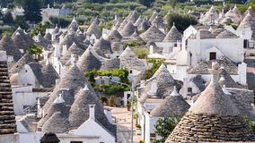Крыши известного trulli ` s Alberobello Стоковая Фотография RF