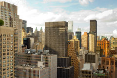 Крыши Ист-Сайд центра города, нью-йорк Стоковые Фотографии RF