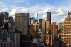 Крыши Ист-Сайд центра города, NYC Стоковые Фотографии RF