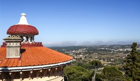 Крыши и шпили дворца Monserrate Стоковое фото RF