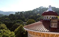 Крыши и шпили дворца Monserrate Стоковое Изображение RF