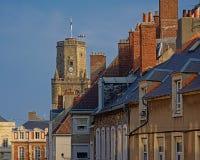 Крыши и octogonal башня колокольни Boulogne Sur Mer стоковые изображения