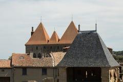 Крыши, Каркассон, Франция Стоковая Фотография RF