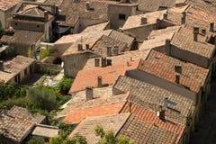 Крыши, Каркассон, Франция Стоковое Фото