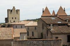 Крыши, Каркассон, Франция Стоковые Изображения RF