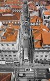 крыши красного цвета lisbon стоковая фотография rf