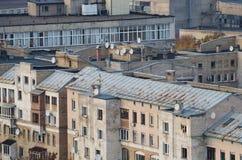крыши красного цвета prague города Стоковая Фотография