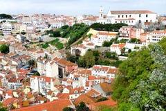 Крыши Лиссабона Стоковая Фотография RF
