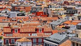Крыши Мадрида Стоковое Изображение