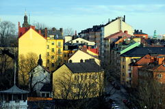 Крыши на Sodermalm, kholm  StoÑ, Швеции Стоковые Фотографии RF