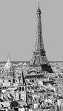Крыши Парижа с Эйфелевой башней Стоковое Изображение RF