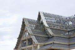 Крыши под конструкцией с железным каркасом стоковые изображения