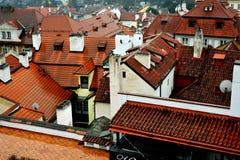Крыши Праги, чехии Стоковое Изображение RF