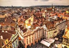 Крыши Праги, чехии Стоковые Изображения RF