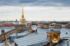 Крыши Санкт-Петербурга, России Стоковое Фото
